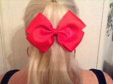 Big hair bow 5 inch alligator clip bow large different colours