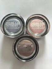 (1) Limited Edition 2015 Maybelline Color Tattoo 24Hr,  Eyeshadow, You Choose!