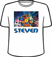 Many Tee Colors-Personalized Lego Movie Style B T-Shirt