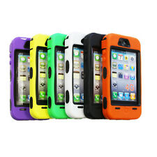Double Layer Armor Dual Layer Silicone Hard Cover Case For Apple iPhone 4s 4 4G