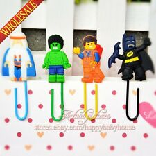 4PCS Hot Movie Super Heroes PVC Bookmarks,Paper Clips School Supplies Stationery