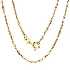 """925 Sterling Silver Round Box Chain Necklace for pendant 16"""", 18"""", 20"""", 22"""", 24"""""""
