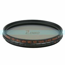 ZOMEI 52-82mm Multi-Coated HD ND2-400 Fader Variable ND Filter for DSLR Camera