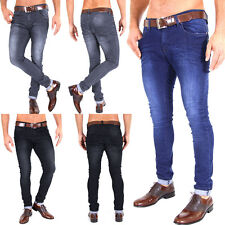 SUPER SKINNY SLIM FIT HERREN STRETCH RÖHRENJEANS CHINOHOSE DENIM 3 FARB. 29-38