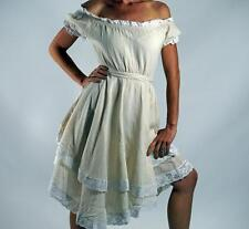 - SS LACE DRESS - Zootzu Wench Pirate Renaissance Costume Steampunk Cream White