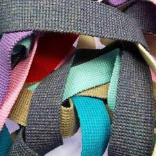 30mm Thick Cotton Webbing Bag Handles 15 Colours Strong, Decorative