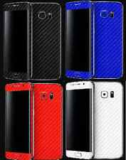 3D Textured Carbon Fibre Skin Sticker Vinyl Samsung Galaxy S4 S5 S6 S6 EDGE MINI