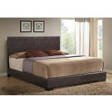 Ireland Upholstered Bed frame w headboard leather Platform full queen king NEW