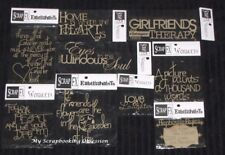 SCRAP FX Chipboard 'QUOTES & PHRASES' Embellishments (Choose from 16 designs)