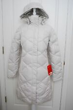 NWT THE NORTH FACE WOMENS MISS METRO PARKA DOWN MOONLIGHT IVORY