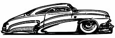 Hotrod Classic car vinyl wall decal, bedroom home decor, indoor, Made in the USA
