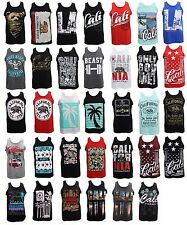 MEN TANK TOP T SHIRT CALI CALIFORNIA REPUBLIC MULTI-DESIGNS SIZE S~3XL