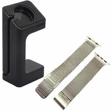 Stainless Steel Wrist  Watchband + Watch Band Adapter For Apple Watch 38mm 42mm