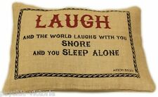 QUALITY CLASSIC JUTE CUSHIONS WITH LITERARY QUOTES INCLUDING INNERS FREE P@P