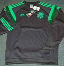 Adidas Federacion Mexicana de Futbol Sweatshirt, Dark Shale, Various Men's Sizes