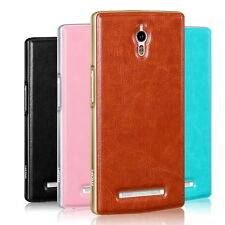 Mofi Metal Frame Border Pu Leather Back Cover Case Shell For OPPO Find 7 X9007