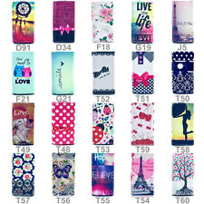 For Many LG Model Phone Cute Wallet Button PU Leather Card Skin Case Cover (N3)