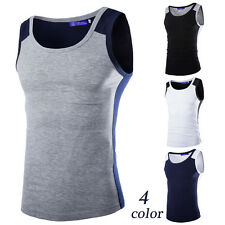 New Men's Plain T-Shirts Tank Top Muscle Sleeveless Tee M~2XL A-Shirt Cotton GYM