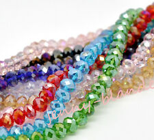 20/50pcs Mixed Rondelle Faceted Crystal Glass Loose Spacer Bead 8mm 10mm Finding