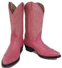 Women's New Ostrich Western Cowgirl Rodeo Biker Boots Snip Toe Pink SALE