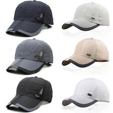 Mens Quick-dry Baseball Hat Cap Outdoor Adjustable Curved Sport Polyester Golf