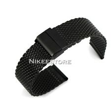38 42 mm Black Stainless Steel Bracelet Strap Watch Mesh Band for Apple Watch