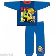 BOYS BOB THE BUILDER  PJS PYJAMAS -NO PROBLEM BOB  - FULL LENGTH  ALL SIZES
