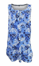 Evans Plus Size Floral & Heart Print Sleeveless Swagger Vest Top