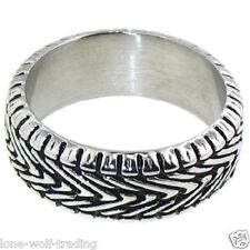 Stainless Steel Motorcycle Tire Tread Ring-Mens