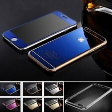 Front+Back Mirror Effect Tempered Glass Screen Protector+Free Case Cover Skin AU