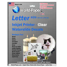 Waterslide Decal Paper Water Slide Inkjet Transfer Paper - ALL QUANTITIES