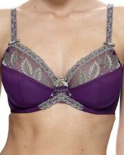 Charnos Sophia full cup underwire bra violet & gold detailing- size 10DD/32DD