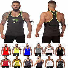 NEW GYM MEN MUSCLE SLEEVELESS SHIRT TANK BODYBUILDING SPORT SHARK FITNESS VEST