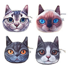 Hot Cute Cat Face Zip Wallet Purse Coin Bag Card Holder Clutch Makeup Bag Pouch
