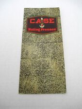 Early Case Bailing Presses Farm Tractor  Advertising Catalog Brochure  #6