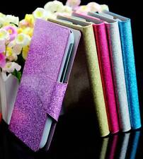 For HTC Desir Bling Glittery Powdery Luxury PU Leather Flip Wallet Case Cover #1