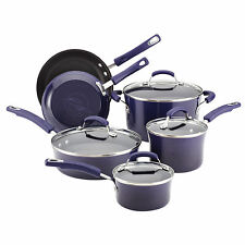 10pc Rachel Ray Nonstick Cookware Set New Cooking Pots Pans Lid Be The Best Cook