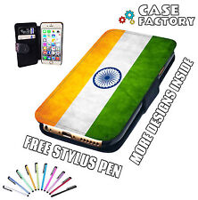 India Indian Vintage Country Flag Mobile & Passport Leather Wallet Case Cover