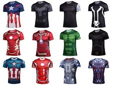 New Superhero Costume T Shirt Avengers 3D Captain Ironman Hot Jersey Cycling Tee