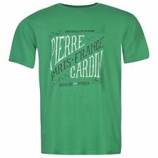 Pierre Cardin Large Mens Print T-Shirt Green New With Tags