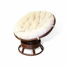 Handmade Rattan Wicker Round SWIVEL Rocking PAPASAN Chair Cushion LOCAL PICKUP