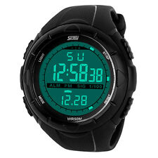 SKMEI Waterproof Digital LED Digital Rubber Wrist Watch Men's Boy Sport Gifts