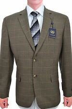 $295 Club Room Brown Blazer Plaid Textured 2 Button New Men's Sportcoat JY74