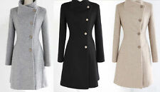 Hot  WOMENS WOOL winter long warm jacket coat trench parka outwear