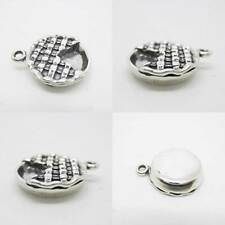 Beef Pie a Slice out 925 Sterling Silver Charm Pendant w Spacer / Bracelet Chain