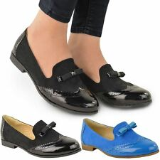 WOMENS LADIES LOAFERS TASSEL FLAT CASUAL MOCCASIN SCHOOL WORK OFFICE SHOES SIZE