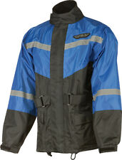 FLY RACING Two-Piece Motorcycle Rain Suit (Black/Blue) Choose Size