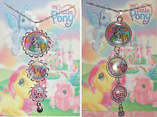 MY LITTLE PONY Rhinestone Silver Pendant Necklace Vintage Unicorn Old School