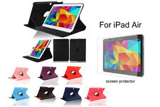 """For Samsung Galaxy Tab 4 10.1"""" Screen Protector/ Rotating PU Leather Case Cover"""