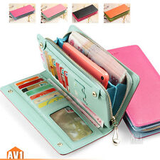 Colorful women genuine real leather wallets. quality fashion lady purse gift.